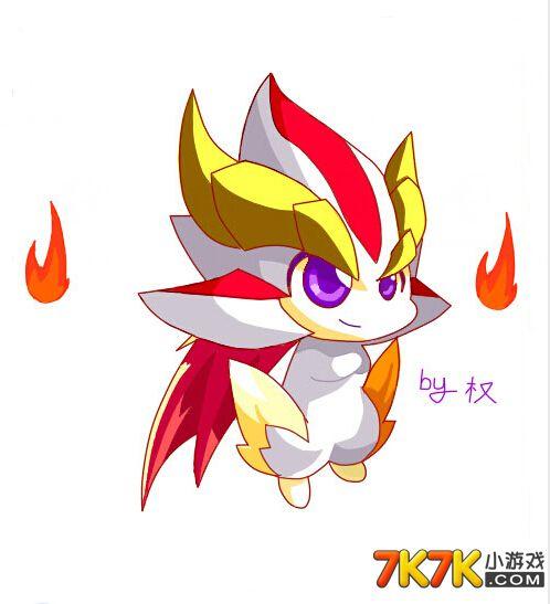 7k7k小游戏 奥奇传说 四格漫画  奥奇传说手绘小炎,奥奇传说手绘小炎