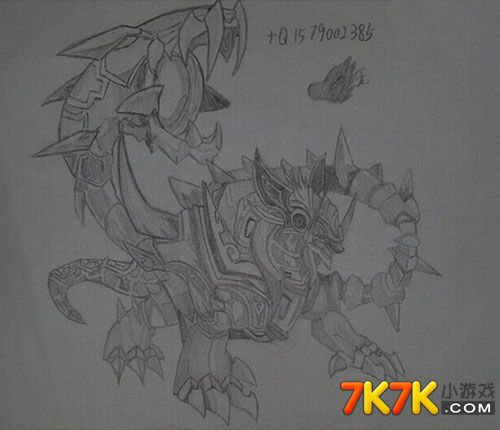 龙斗士手绘神兽玄武
