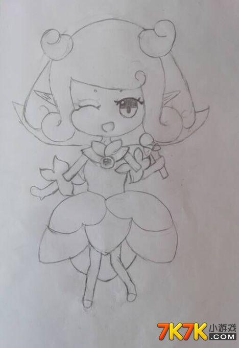 小花仙手绘图片