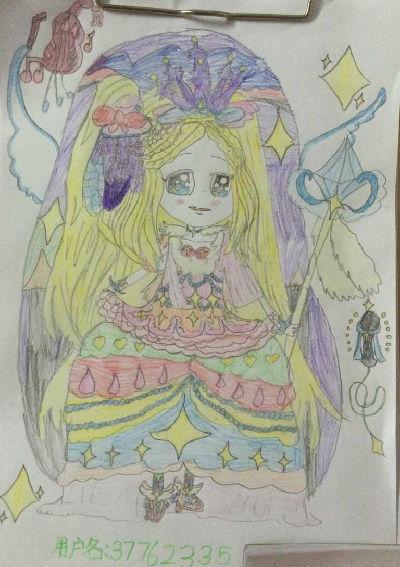 奥比岛手绘偶像公主