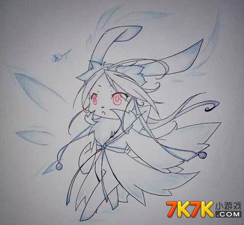 自创亚比手绘啦~这次是萌萌哒冰兔哦~这个兔子的画风确实有些寒气