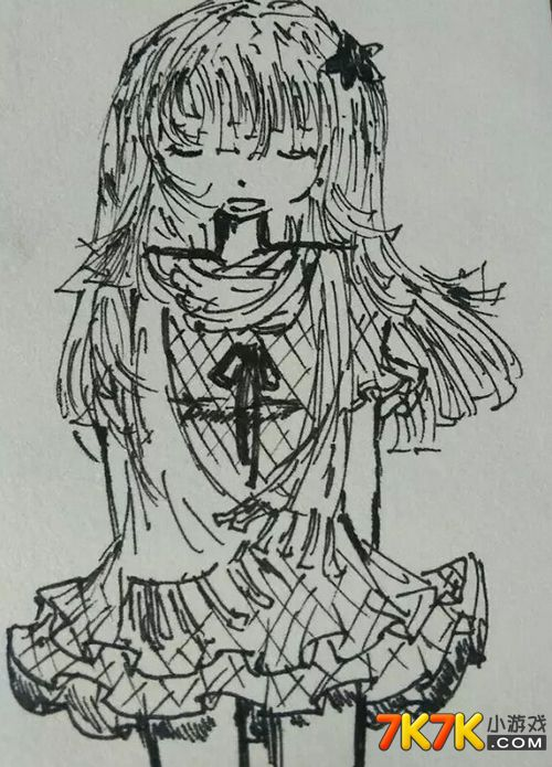 淑女铅笔手绘头像