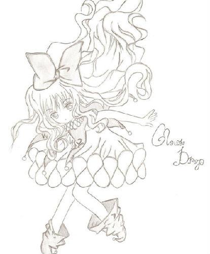 奥比岛手绘美丽女巫