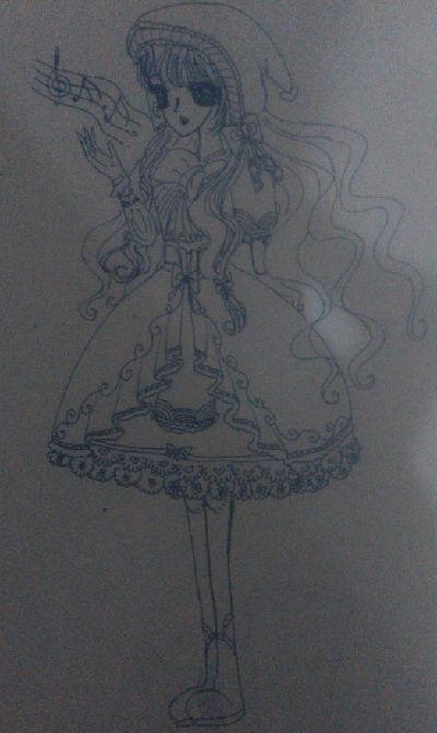 奥比岛手绘失去左臂的娃娃