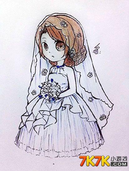 奥比岛手绘我愿做你最美的新娘