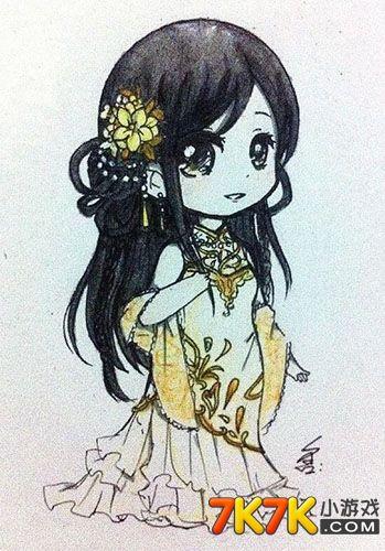 奥比岛手绘唯美古装少女