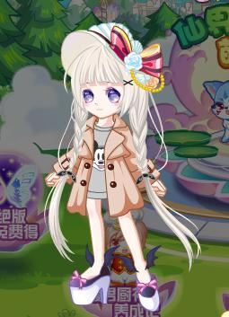 奥比岛搭配萌系天使发