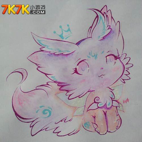【洋】奥拉星自创亚比小狐手绘