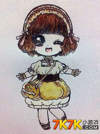 奥比岛手绘短发大眼睛萌娃