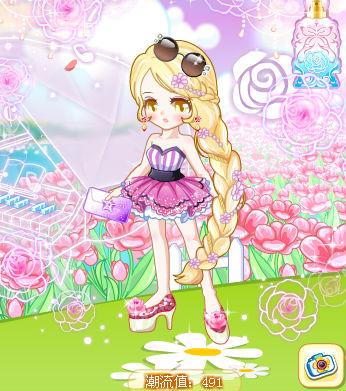 长发公主头发,长长的金发编成麻花辫,美丽可爱大方,还不来搭配吗!