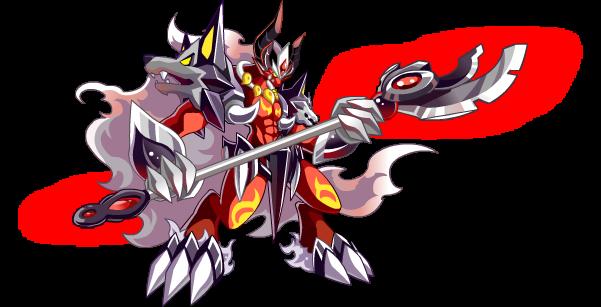 """亚比名称:奈瑟斯 亚比编号:2758 亚比属性:超暗系 身高:288cm 体重:155kg 喜爱的食物:炼狱岩浆 角色描述:奈瑟斯被称为炼狱魔王,因为在炼狱已经找不到与之匹敌的对手,为了遇到更强大的对手,加入了暮光联盟,开始新的""""独孤求败""""征途。"""