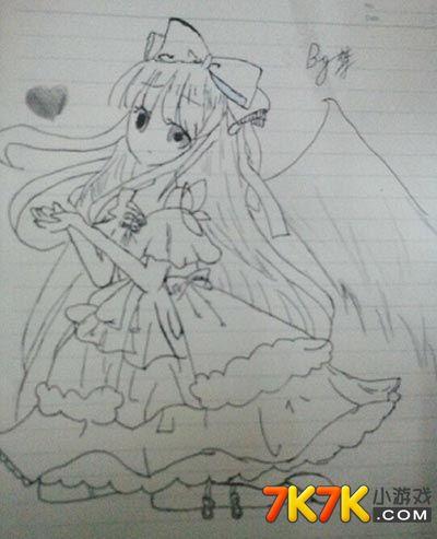 奥比岛梦手绘天使少女