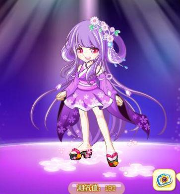 古风动漫人物形象紫色