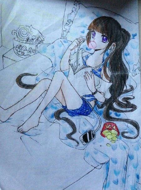 奥比岛手绘天伊雪