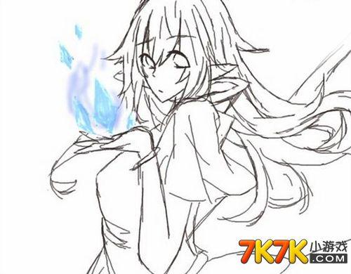 龙斗士手绘法师女神
