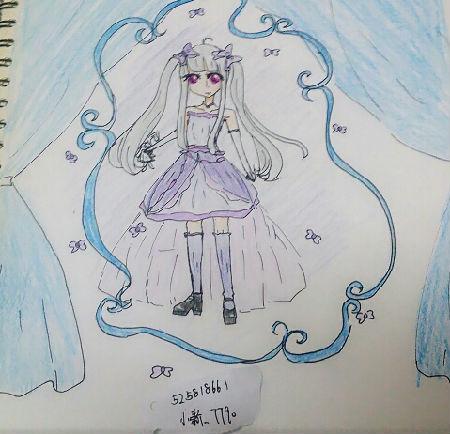 奥比岛小新手绘紫韵少女