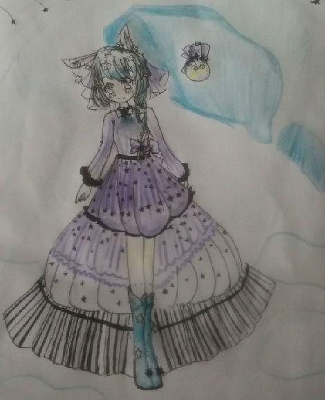 奥比岛手绘星星女孩