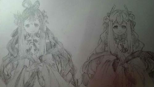 奥比岛手绘双生桃花装