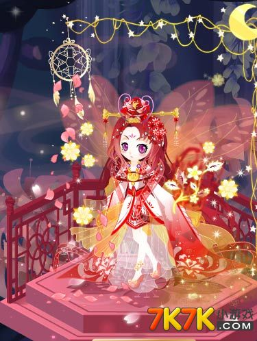 7k7k小游戏 小花仙 任务功略  这套红色的古装搭配是不是深入你的心呢