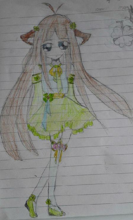 奥比岛手绘黄裙少女