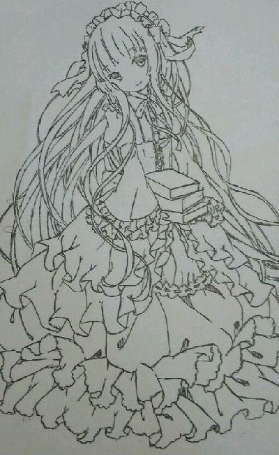 奥比岛吃货手绘抱书少女