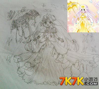 奥比岛苏醒手绘金伞公主