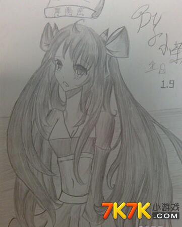 龙斗士绘画作品摩羯座:小茶人设_龙斗士手绘_7k7k