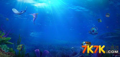 金蟾捕鱼唯美海底场景美图鉴赏