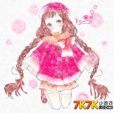 小仙子的手绘作品非常棒哟!今天画的是一个美哒哒的girl哟!