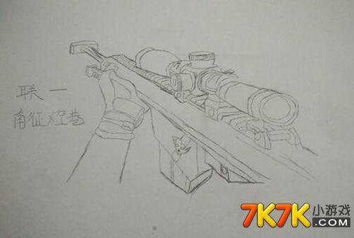 生死狙击忠实玩家手绘巴雷特第一人称