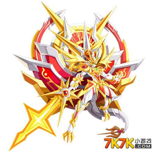奥奇传说辉耀·龙尊高清大图,极耀龙帝神职进化,光之时空王者