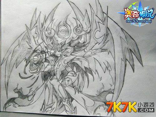 奥奇传说玩家手绘:龙炎神职