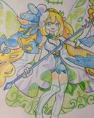 森林女皇手绘