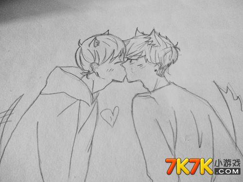 7k7k亲吻_小花仙玩家手绘【小二黑】_小花仙手绘_7k7k小花仙