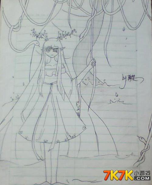 小花仙森林女孩手绘【葬桀】