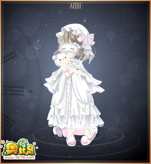 可爱公主睡衣,可爱伴睡小熊,亚麻绿时尚短发,可爱公主睡帽,毛毛冬季