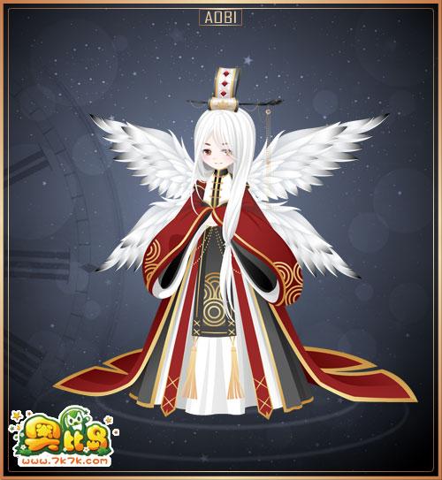 7k7k小游戏 奥比岛 魔力时装  熊猫古装大长袖,熊猫古装连衣裙,熊猫