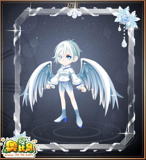奥比岛 魔力时装  女 -- 包含部件 白色骑士边框,白色骑士高跟鞋,白色