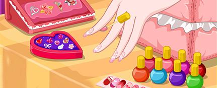 情人节只想去做个美美的指甲