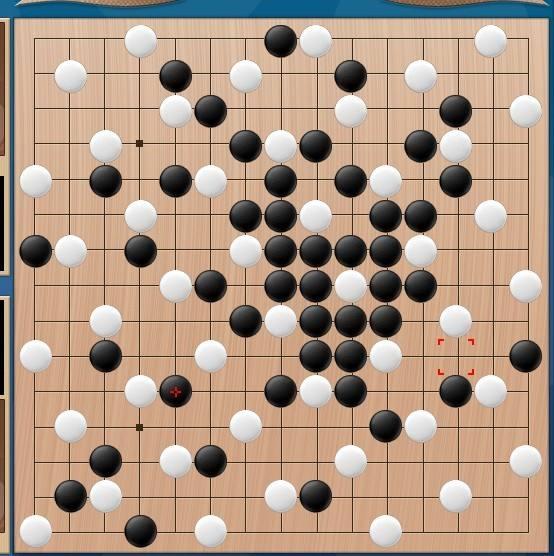 《双人五子棋》两人对弈