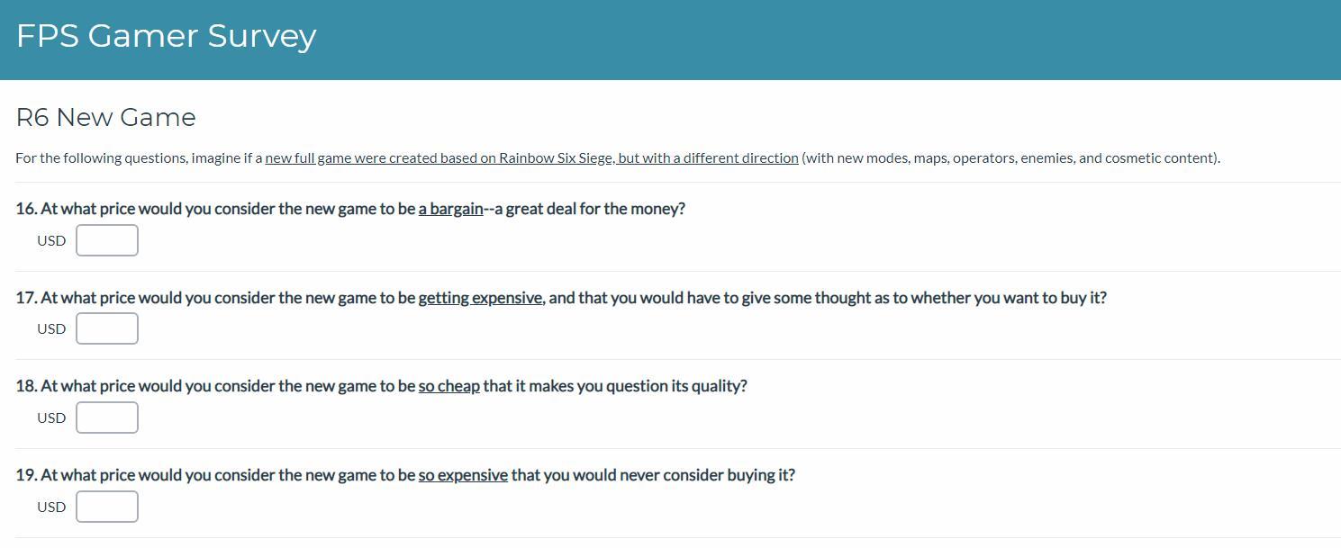育碧发布R6调查 玩家想看到什么新模式