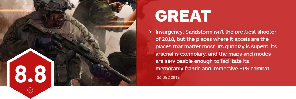 《叛变:沙漠风暴》IGN8.8分 教科书般的硬核射击体验