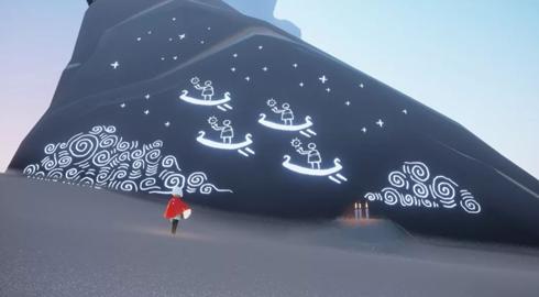Sky光遇石墙壁画位置介绍
