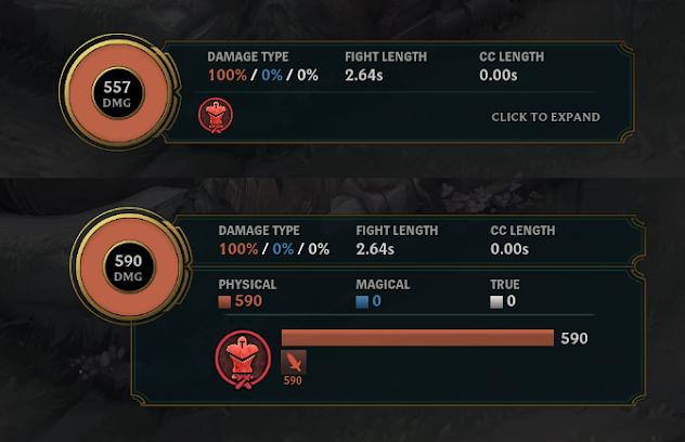 LOL死亡回放功能更新:伤害及数值界面简化