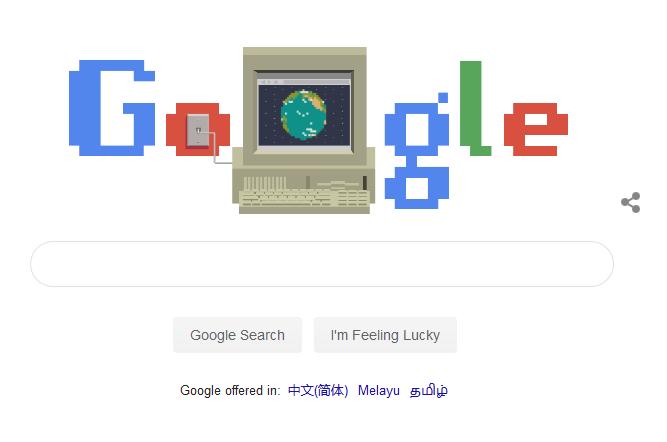 WWW万维网发明30周年 Google首页涂鸦致敬