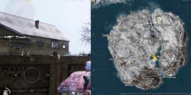 《绝地求生刺激战场》雪地地图樱花树位置分享